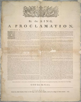 an analysis of the 18th century proclamation Original post: the royal proclamation of 1763 the royal proclamation was issued by king george iii after great britain acquired all of what was originally considered.